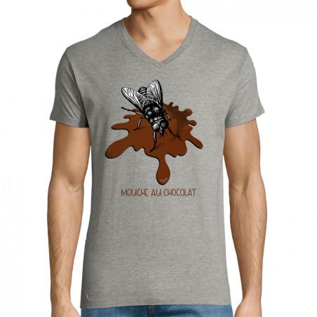 "T-shirt homme col V ""Mouche..."