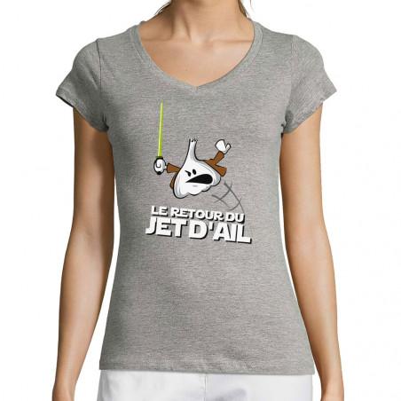 """T-shirt femme col V """"Retour..."""