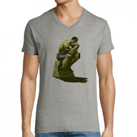 "T-shirt homme col V ""Hulk..."