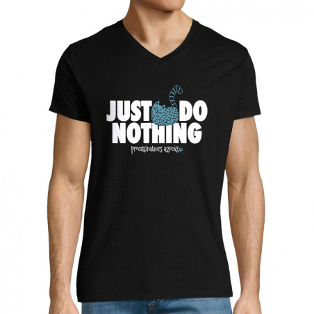 "T-shirt homme col V ""Just..."