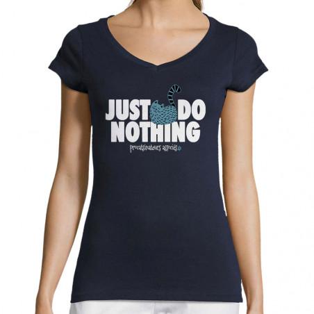 """T-shirt femme col V """"Just..."""