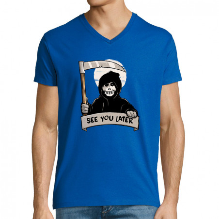 """T-shirt homme col V """"See..."""