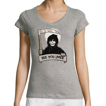 """T-shirt femme col V """"See..."""