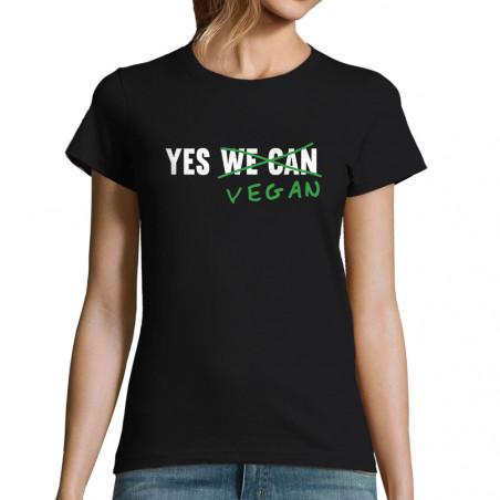 "T-shirt femme ""Yes Vegan"""