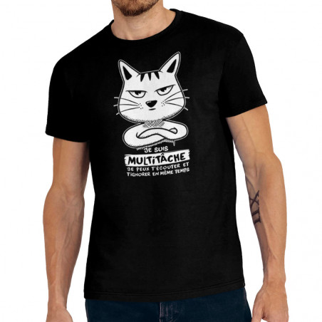 """Tee-shirt homme """"Chat..."""