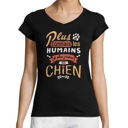 """T-shirt femme col V """"Mon..."""