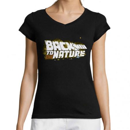 """T-shirt femme col V """"Back..."""