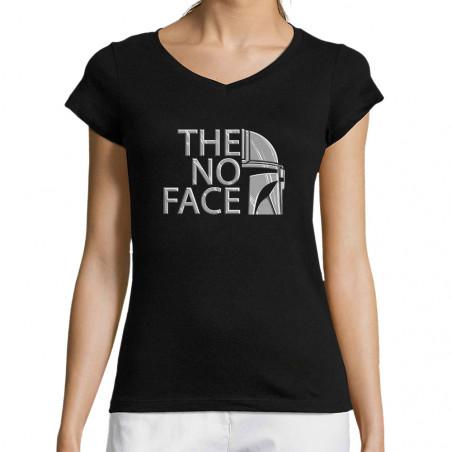 """T-shirt femme col V """"The No..."""