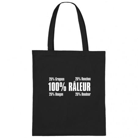 """Sac shopping en toile """"Râleur"""""""
