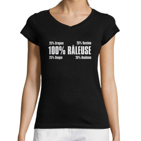 """T-shirt femme col V """"Râleuse"""""""