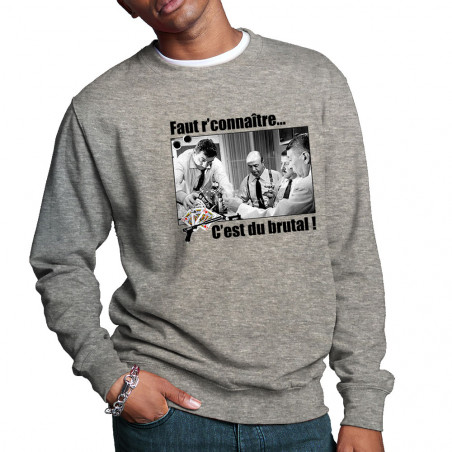 """Sweat homme col rond """"Faut..."""