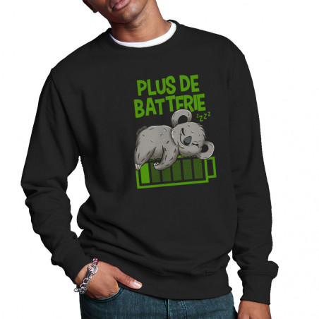 """Sweat homme col rond """"Plus..."""