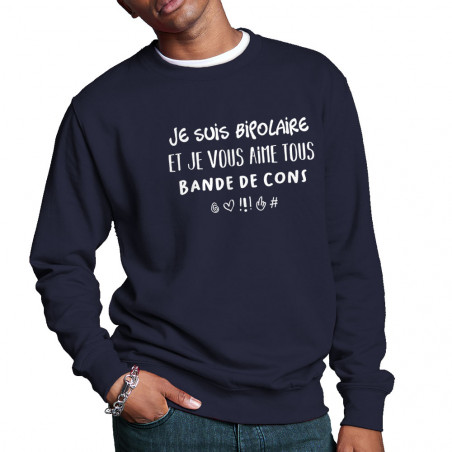 """Sweat homme col rond """"Je..."""