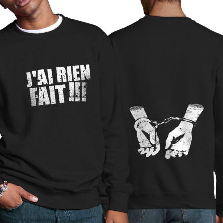 """Sweat homme col rond """"J'ai..."""