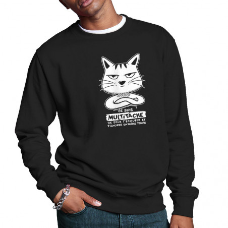 """Sweat homme col rond """"Chat..."""