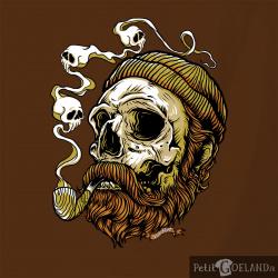 Santa Muerte - Smoking Skull
