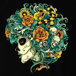 Santa Muerte - Flourish Dead Girl