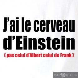 J'ai le cerveau d'Einstein