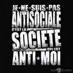 Je ne suis pas antisociale