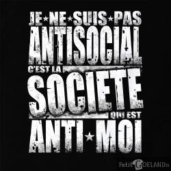 Je ne suis pas antisocial