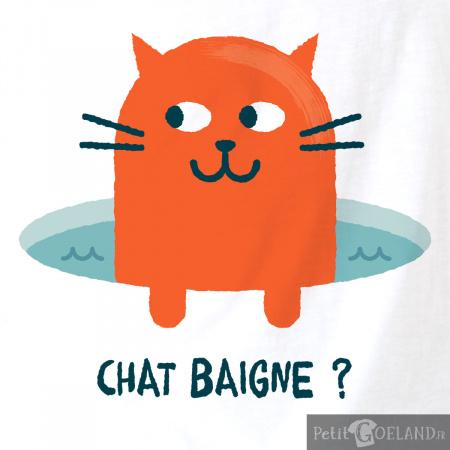 Chat baigne ?