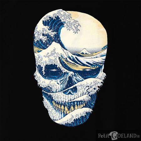 Hokusai Wave Skull