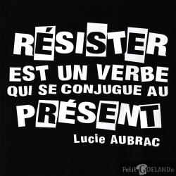 Résister est un verbe qui  se conjugue au présent