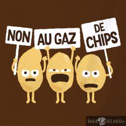 Non au gaz de chips