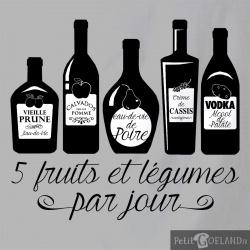 5 Fruits et légumes par jour Alcool