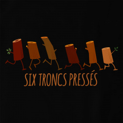 Six troncs pressés